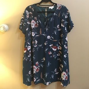 Floral Easy Tee Dress with Pockets